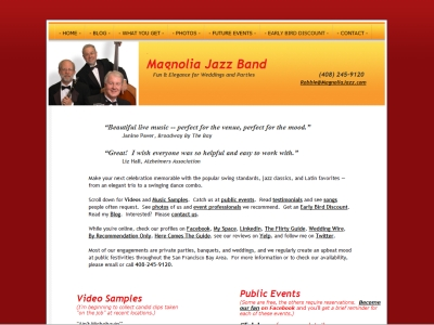 Magnolia Jazz's original site